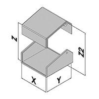 Tafelbehuizing 2 hoeken EC42-2xx