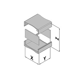 Kunststof behuizing EC10-100-6
